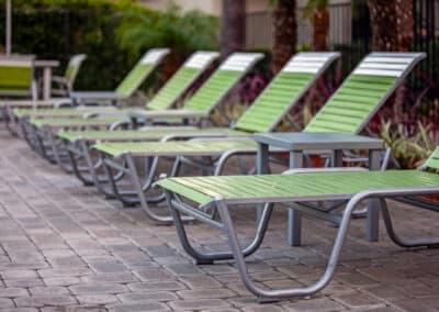 Summerwood grren chairs in pool area