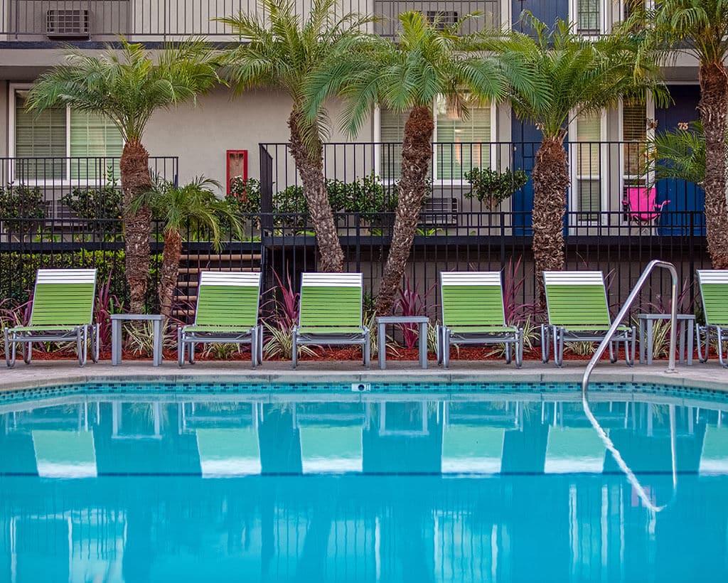 poolside lounge area